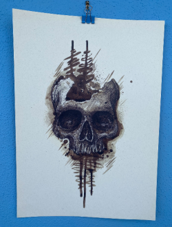 OLD BROWN SKULL